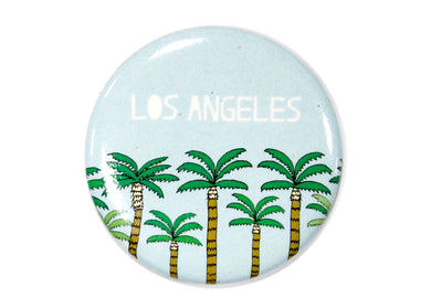 Los Angeles Blue Palm Trees Magnet