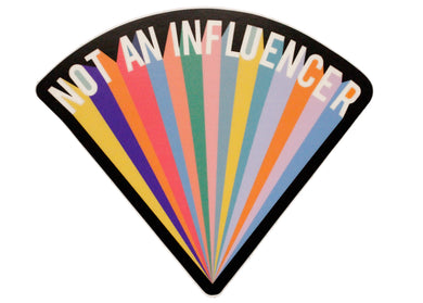 Not An Influencer Sticker