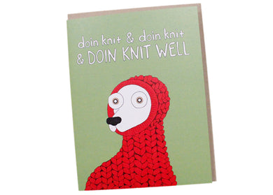 Doin Knit Well Card
