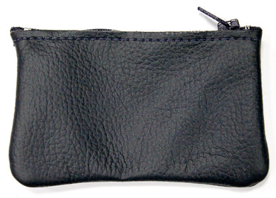 Small Leather Coin Purse in Navy