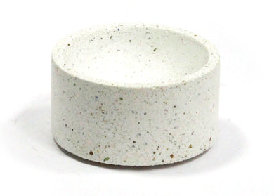 Round Incense Holder in White Terrazzo