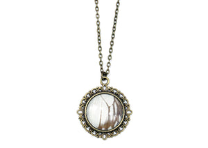 Butterfly Wing Round Necklace