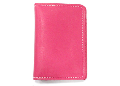 Leather ID Case in Pink