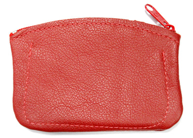 Leather Coin Purse in Red