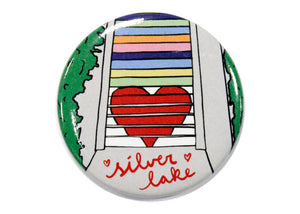 Silver Lake Rainbow Stairs Magnet