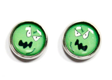 Monster Round Stud Earrings