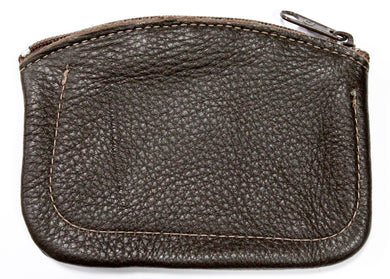 Leather Coin Purse in Brown
