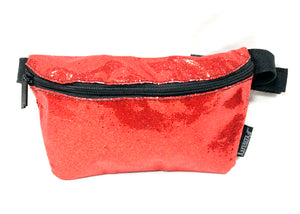 Ultra Slim Fanny Pack In Glam Red