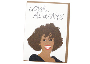 Love Always Whitney Houston Card