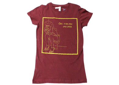 Raunchy Magritte Tee - Drag Maroon WS