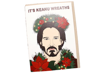 Keanu Wreaths Card