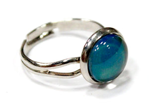 Mood Stone Ring in Silver