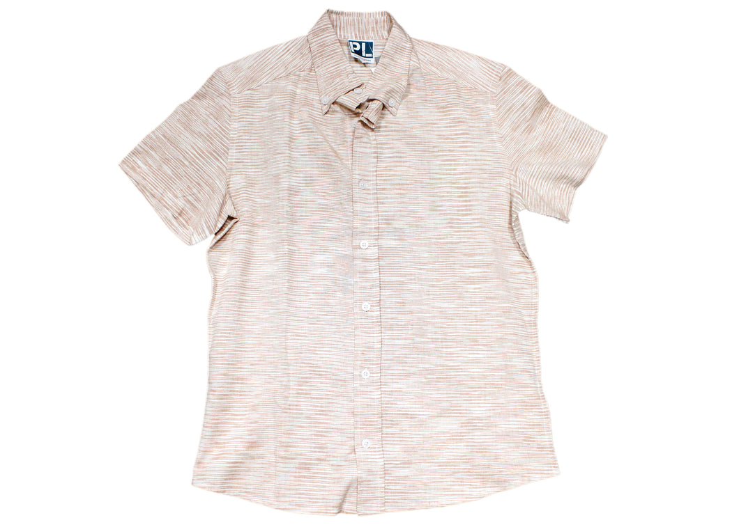 Salmon Ikat Shirt