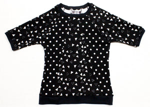 Octozoid T-Shirt in Black Triangle Dot