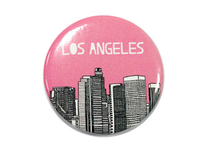 Los Angeles Pink Skyline Magnet