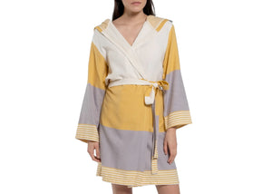 Turkish Hooded Colorblock Robe