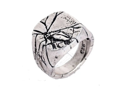 Cracked Signet Ring in Stainless Steel