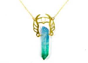 She-Ra Warrior Necklace in Blue-Green Ombre