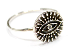 Eye Ring In Sterling Silver