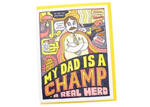 My Dad Is A Champ Card