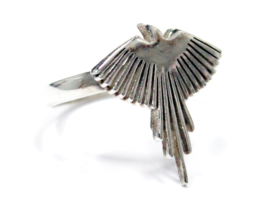 Falcon Ring In Sterling Silver