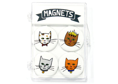 Cats In Hats Magnet Set