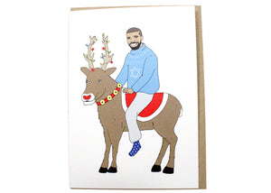 Drake Is Blessed On A Reindeer Card