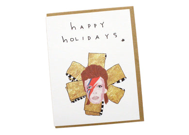 Happy Holidays Bowie Mini Card