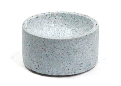 Round Incense Holder in Blue Terrazzo