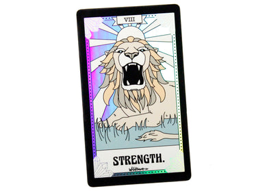 Strength Tarot Card Holographic Sticker