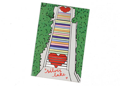 Silver Lake Rainbow Stairs Postcard