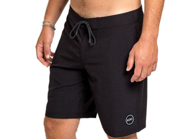 Recycled Swim Trunks in Solid Black Mondo