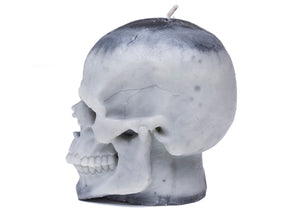 Skull Candle in Tonal Gray