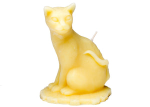 Sitting Cat Candle in Yellow