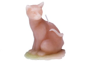 Sitting Cat Candle in Mauve