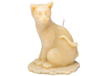 Sitting Cat Candle in Tan