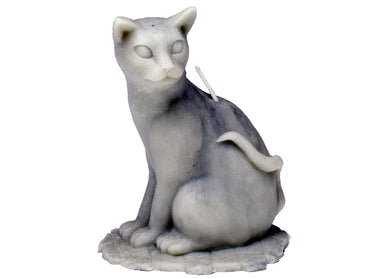 Sitting Cat Candle in Gray