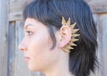 Leaf Ear Wrap in Brass