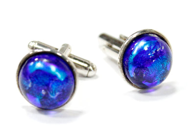 Dichroic Glass Cuff Links