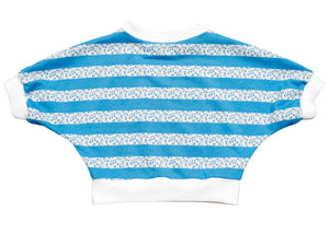 Praxis Top In Blue Music Stripe