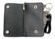 Leather Trucker Wallet in Black