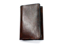 Wolf Embossed Tri-Fold Leather Wallet