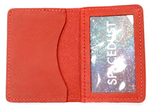 Leather ID Case in Red