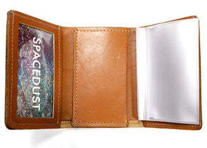 Tri-Fold Leather Wallet in Tan