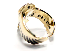 As Above Ring in Brass