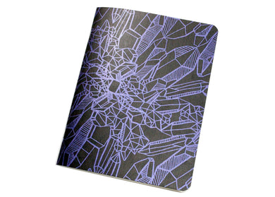 Purple Amethyst Crystal Notebook