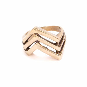 Apex Ring in Bronze