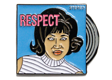 Aretha Franklin Respect Enamel Pin