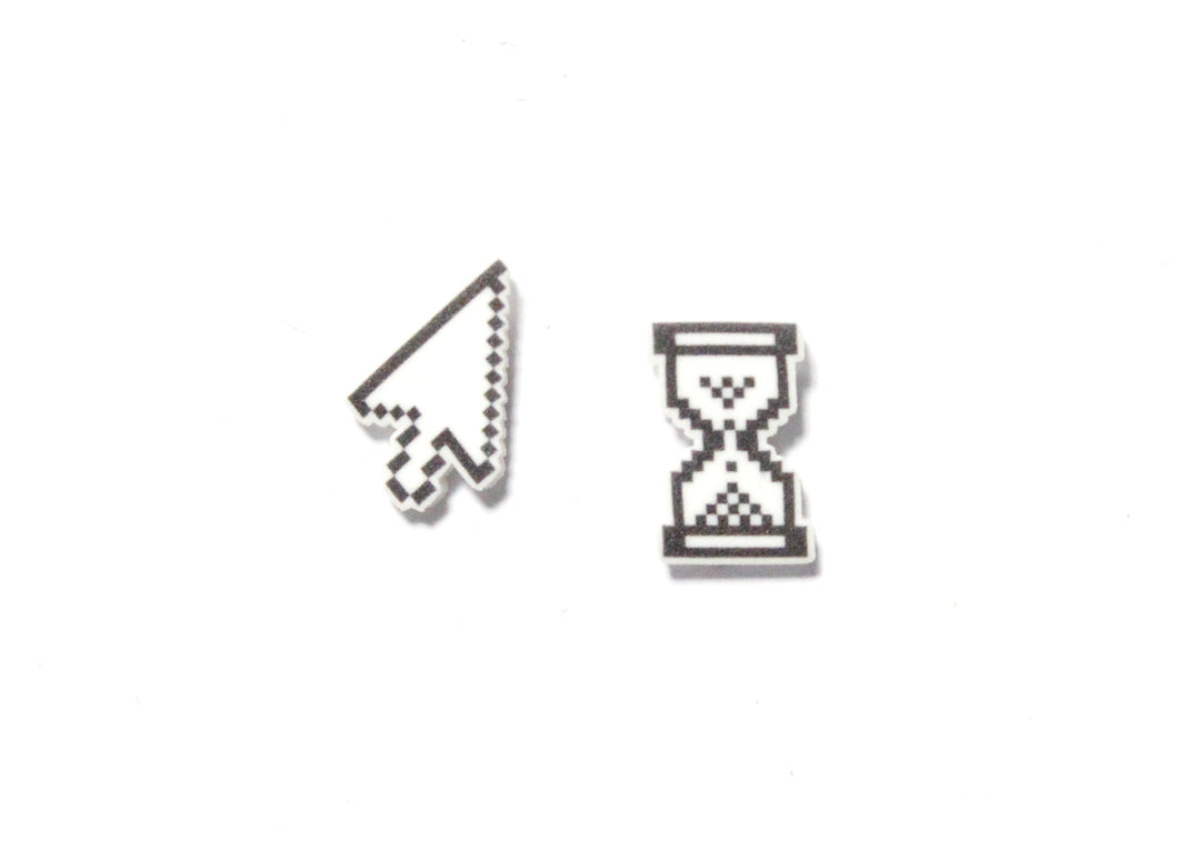 Arrow & Hourglass Cursor Earrings