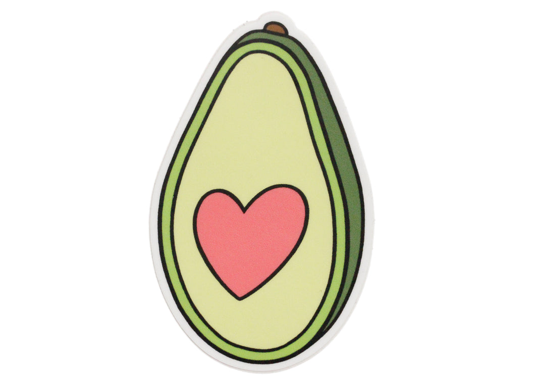 Avocado Heart Sticker